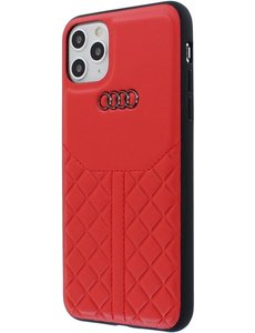 Audi iPhone 11 Pro Max Backcase hoesje - Audi - Effen Rood - Leer