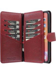 Pierre Cardin iPhone 11 Pro Max Bookcase hoesje - Pierre Cardin - Effen Rood - Leer
