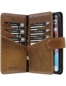 Pierre Cardin iPhone 11 Pro Bookcase hoesje - Pierre Cardin - Effen Bruin - Leer