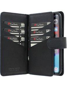 Pierre Cardin iPhone 11 Pro Bookcase hoesje - Pierre Cardin - Effen Zwart - Leer