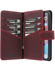 Pierre Cardin iPhone 11 Pro Bookcase hoesje - Pierre Cardin - Effen Rood - Leer