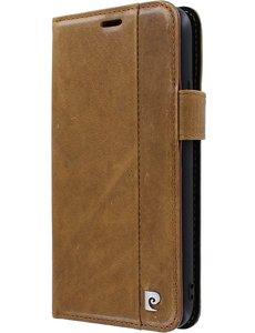 Pierre Cardin iPhone 11 Pro Max Bookcase hoesje - Pierre Cardin - Effen Bruin - Leer