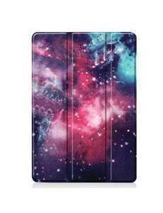 Ntech Apple iPad 10.2 inch 2019 / 2020 hoes Smart Tri-Fold Hoesje - Samsung Galaxy Print