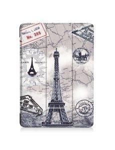 Ntech Apple iPad 10.2 inch 2019 / 2020 hoes Smart Tri-Fold Hoesje - Eiffeltoren Print
