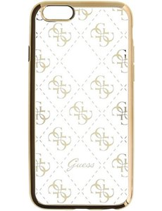 Guess TPU Transparant case 4G - goud - voor iPhone 6/6S