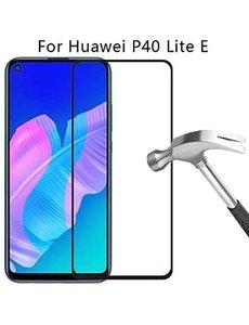 Ntech Huawei P40 Lite (volledig scherm) Screenprotector Tempered glass zwart