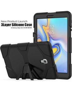 Ntech Samsung Galaxy Tab A 10.5 (2018) T590 Hoesje - Heavy Duty Case - Zwart