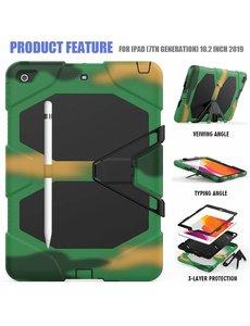 Ntech Apple iPad 10.2 inch 2019 / 2020 hoes / Hoesje - Heavy Duty Case - Camouflage Groen
