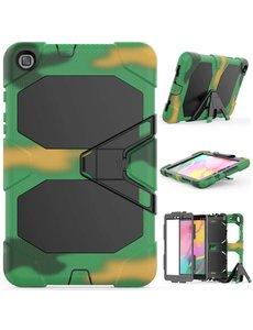 Ntech Samsung Galaxy Tab A (8 inch 2019) T290 Heavy Duty Case - Camouflage Groen