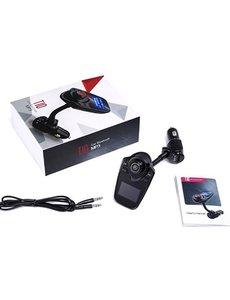 T10 FM Transmitter voor in de auto - Handsfree bellen - USB Ingang - Auto bluetooth - Carkit met AUX - Bluetooth handsfree carkit- fm transmitter - T10