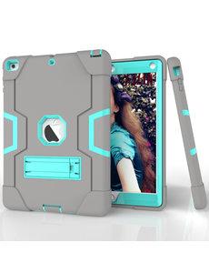 Ntech Apple iPad 10.2 inch 2019 / 2020 hoes Kickstand Armor hoes - Grijs Mint