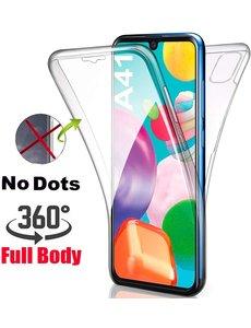 Ntech Samsung Galaxy A41 Dual TPU Hoesje ( Voor en Achter) Transparant