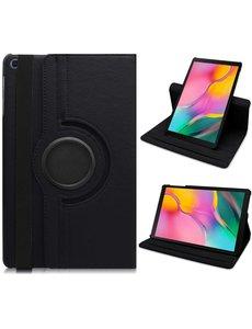Ntech Samsung Galaxy Tab S6 Lite Hoes - 360° Draaibare Bookcase - Zwart