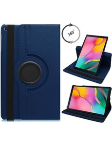 Ntech Samsung Galaxy Tab S6 Lite Hoes - 360° Draaibare Bookcase - Donker Blauw