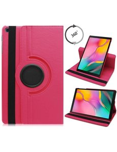 Ntech Samsung Galaxy Tab S6 Lite Hoes - 360° Draaibare Bookcase - Pink