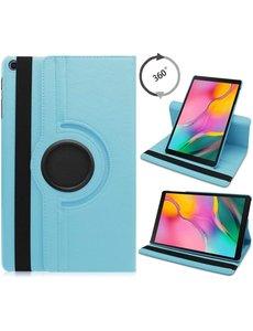 Ntech Samsung Galaxy Tab S6 Lite Hoes - 360° Draaibare Bookcase - Licht Blauw
