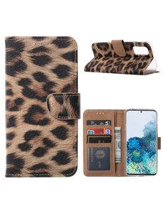 Ntech Samsung Galaxy S20 Luipaard hoesje / book case