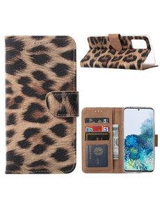 Ntech Samsung Galaxy S20 Plus Luipaard hoesje / book case
