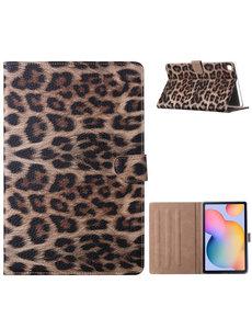 Ntech Samsung Galaxy Tab S6 Lite Hoes - 360° Draaibare Bookcase Luipaard Design Booktype