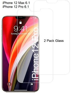 Ntech iPhone 12 / 12 Pro Screenprotector 2 Pack / Tempered Glass