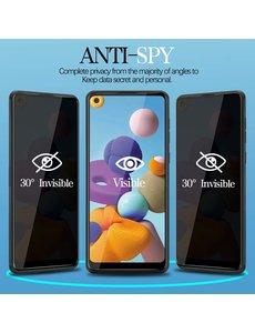 Ntech Samsung Galaxy A21S / A21 Anti Spy Privacy Tempered Glass