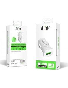 Durata Durata Single USB Car Adapter 1.5A (DR-C13) Autolader met 1 Type C USB Kabel Voor Samsung / Sony / Huawei / Motorola / Oppo / OnePlus / HTC / Xiaomi / Alcatel