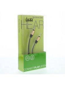 Durata Durata audiokabel Stereo Aux kabel - 1,2 m DUR-0038