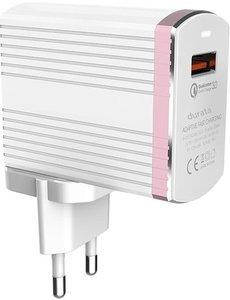 Durata Durata DR-1302Q Qualcomm 3.0 Oplader met Type-c-Kabel