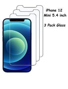 Ntech iPhone 12 Mini Screenprotector 3 Stuks - Glazen / tempered glass