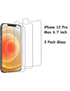 Ntech iPhone 12 Pro Max Screenprotector - 3 Stuks – Glazen tempered glass