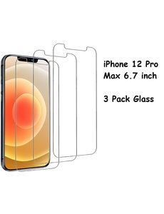 Ntech iPhone 12 Pro Max Screenprotector - 3 Stuks '¬€œ Glazen tempered glass