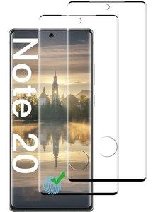 Ntech Samsung Galaxy Note 20 - 2 Pack tempered glass / Screenprotector Zwart