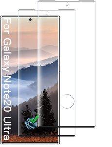 Ntech Samsung Galaxy Note 20 Ultra - 2 Pack tempered glass / Screenprotector Zwart