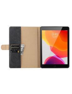 Ntech iPad 10.2 inch 2019 / 2020 hoes / iPad Pro 10.5 Luex leren hoes - Book Case Portemonnee cover Zwart