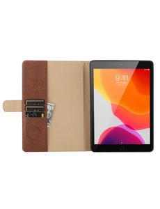Ntech iPad 10.2 inch 2019 / 2020 hoes / iPad Pro 10.5 Luex leren hoes - Book Case Portemonnee cover Bruin
