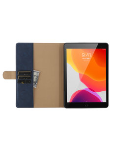 Ntech iPad 10.2 inch 2019 / 2020 hoes / iPad Pro 10.5 Luxe leren hoes - Book Case Portemonnee cover Blauw