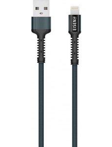 Eisenz Eisenz EZ868 Toughness Lightning iPhone Kabel 2.4A Fast Cable - blauw 2 Meter
