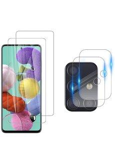 Ntech Samsung Galaxy A51 tempered glass - Samsung Galaxy A51 camera Lens screenprotector - 4 stuks