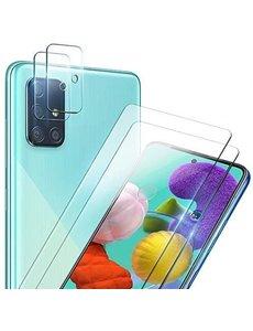 Ntech Samsung Galaxy A41 2 stuks tempered glass - Samsung Galaxy A41 camera Lens screenprotector - 4 stuks