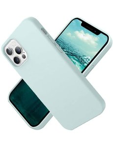 Ntech Nano Hoesje siliconen Backcover - Soft TPU case voor Apple iPhone 12 Pro Max (6.7 inch) - Mint Groen
