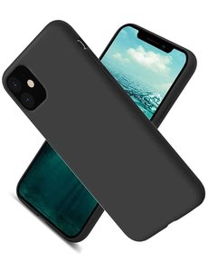 Ntech Nano Hoesje siliconen Backcover - Soft TPU case voor Apple iPhone 12 Pro Max (6.7 inch) - Zwart