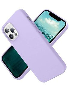 Ntech Nano Hoesje siliconen Backcover - Soft TPU case voor Apple iPhone 12 Pro Max (6.7 inch) - Lila