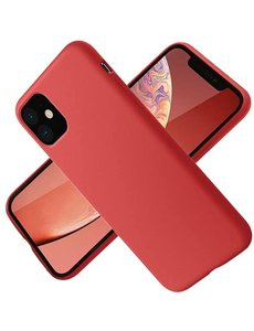 Ntech Nano Hoesje siliconen Backcover - Soft TPU case voor Apple iPhone 12 Pro Max (6.7 inch) - Rood