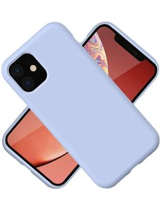 Ntech Nano Hoesje siliconen Backcover - Soft TPU case voor Apple iPhone 12 Pro Max (6.7 inch) - Lich Blauw