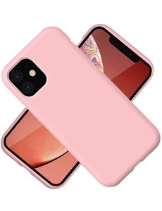 Ntech Nano Hoesje siliconen Backcover - Soft TPU case voor Apple iPhone 12 Pro Max (6.7 inch) - Lich Rose