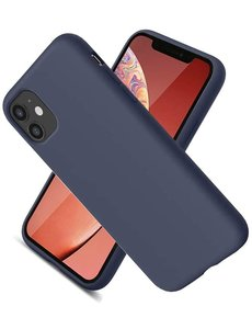Ntech Nano Hoesje siliconen Backcover - Soft TPU case voor Apple iPhone 12 Pro Max (6.7 inch) - Navy