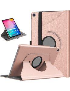 Ntech Samsung Galaxy Tab S6 Lite Hoes - 360° Draaibare case - Rose Goud