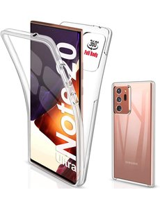 Ntech Samsung Galaxy Note 20 Ultra 360° TPU 2 in 1 Case Hoesje Transparant