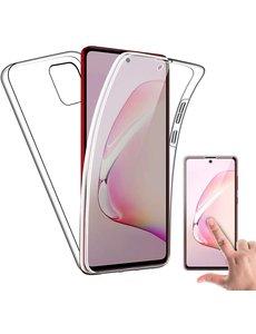 Ntech Samsung Galaxy Note 10 Lite 2020 360° TPU 2 in 1 Case Hoesje Transparant