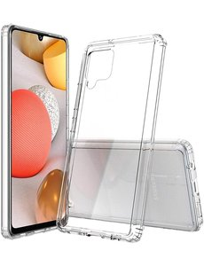 Ntech Samsung Galaxy A42 5G hoesje siliconen - A42 shock proof case - A42 transparant TPU hoesje